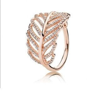 Pandora Rose Gold Leaf Ring